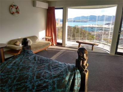 Black Kiwi BnB in Lyttelton - View from Port Bedroom's Bed