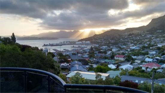 Black Kiwi BnB in Lyttelton - View from Port Bedroom's Porch